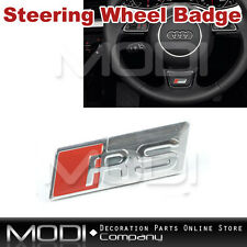 RS STEERING WHEEL BADGE EMBLEM STICKER FOR A3 A4 A5 A6 S3 S4 S5 TT Q7 INTERIOR