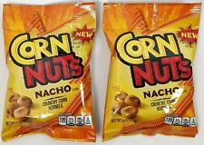 Kraft/Heinz Corn Nuts Nacho Flavored - 2 Bags, 4 oz each - Crunchy Corn Kernels