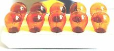 10 Stück Glühlampe Glühbirne Kugellampe orange amber 12V 21W PY21W BAU15s B4481a