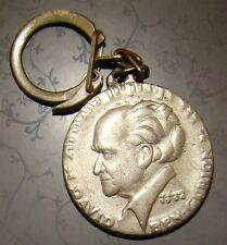 jewish vintage israel key chain David ben gurion embossed memorial coin
