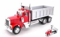 Peterbilt 379 Dump Truck Red / Grey Camion Truck 1:32 Model WELLY
