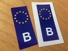 Belgian Euro Number Plate Stickers (Pair)