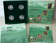 1996 Canada Little Wild Ones Four Coin Discovering Nature Sterling Silver COA