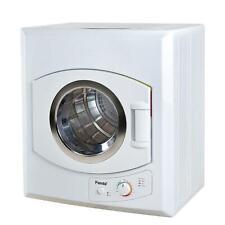 Compact Laundry Dryer 3.5 cu ft Stainless Steel Tub 4 Dryer Temperature White