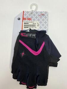 new Specialized Body Geometry BG SPORT Gel Women's bicycle GLOVES Black/Pink XL