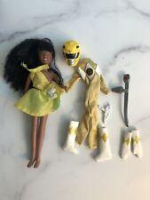 """Mighty Morphin Power Rangers Yellow Aisha  9"""" Dolls Movie Girls"""