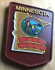 Police  Minnesota State  3D routed carved wood  patch plaque sign Custom