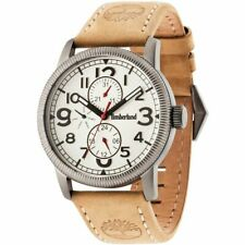 Timberland Erving 14812JSU/07 Men's Watch With Beige Leather Strap