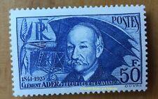 EBS France 1938 En Souvenir de Clément Ader, Aviateur YT 398 MH* cv €110 ($173)b