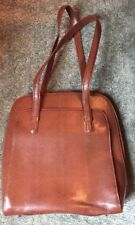 Mimi DiCarlo Vertical Briefcase Brown Textured Leather FullyLined Shoulder Strap