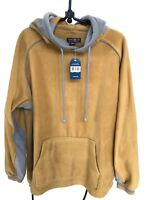 Mens M Fleece Pullover Hoodie Kangaroo Egypt Sandy Yellow NWT Ten West Apparel