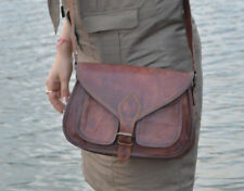 Women's Ace Handmade Natural Tan Pure Goat Leather Vintage Messenger Bag Purse