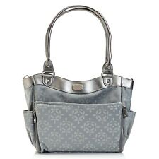 Carter's Grey Convertible Roll Out Diaper Tote Bag