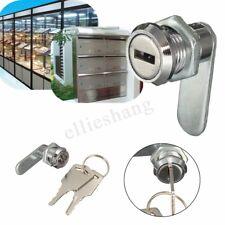 16mm Cam Lock File Cabinet Mailbox Toolbox Desk Drawer Cupboard Locker + 2