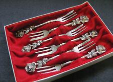 6 Kuchengabeln Widmann 835er Silber Rosendekor