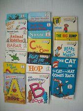 19 Dr. Seuss/Beginner Books: Inside, Outside.., Hop On Pop, Bears on Wheels +