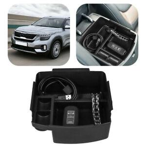 Car Console Storage Box Storage Box Accessories - Black For Kia Seltos 2020-2021