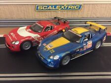 Scalextric x2 Dodge Vipers Working Front & Rear Lights Good Condition