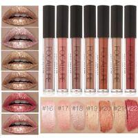 Waterproof Metallic Glitter Lipstick Lip Gloss Liquid Matte Makeup 7 Colors