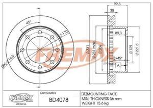 Disc Brake Rotor-4WD Front Fremax BD4078
