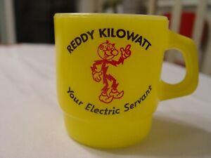Anchor Hocking Reddy Kilowatt Detroit Edison Co. Advertising Coffee Mug