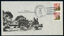Mayfairstamps US 1985 Wakefield Washington Block Cover wwi_05719