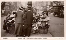 London Life. Flower Sellers at Oxford Circus by Rotary # 10513-48.