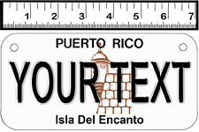 PERSONALIZED ALUMINUM MOTORCYCLE STATE LICENSE PLATE-PUERTO RICO