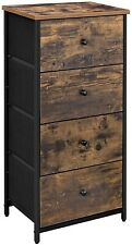 SONGMICS Rustic Drawer Dresser, Storage Dresser Tower with 4 Fabric Drawers,