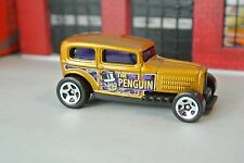 Hot Wheels Batman - The Penguin Midnight Otto Car - Gold - Loose - 1:64 - 5 Pack