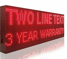 """BRIGHT RED COLOR 10MM PITCH PC PROGRAMMABLE 15"""" x 101"""" INDOOR OUTDOOR LED SIGN"""