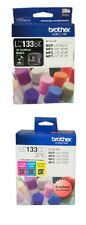 4 Inks SET Brother Genuine 1x LC-133BK BLACK + 1x LC-133CL3PK C/M/Y Color Pack