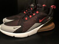 Nike Air Max 270 Mens Infrared Black Red Silver Size 14 Running Shoes