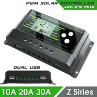 10A PWM Solar Panel Regulator Charge Controller 12V/24V Auto Focus Tracking
