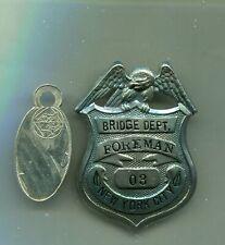 Defunct 1920 Kings County New York City Brooklyn bridge NYC Badge