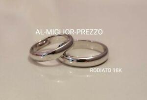 Coppia di Fedi placcate In oro bianco Fedina da 3g Gold Plated 18k Wedding Rings