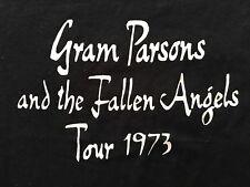 VTG. 90's GENUINE GRAM PARSONS & THE FALLEN ANGELS 1973 TOUR CONCERT T-SHIRT-XL