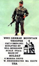 SOLDAT BM54.901 - WWII GERMAN MOUNTAIN TROOPER - 54mm RESIN KIT RARITA'