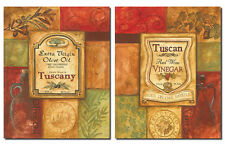 2 Tuscan Retro Olive Oil and Vinegar; Kitchen Decor; Two 12X16 Poster Prints