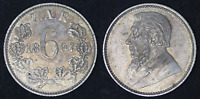 SOUTH AFRICA ZAR 1897 SIX PENCE STERLING SILVER - SUPERB TONE (KF18)