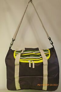 New XLG Nature Navy CANVAS Deep ZIP AROUND Shoulder Strap TOTE Travel DUFFEL BAG