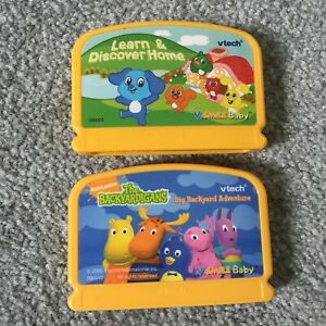 Lot of 2 VSmile Baby Vtech Cartridge Learn & Discover Home & The Backyardigans