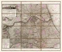 Map Napoleonic War 1812 Valencia Spain Large Canvas Art Print