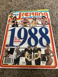 PRO WRESTLING ILLUSTRATED 1988 Year in Wrestling Magazine - Hulk Savage Madusa