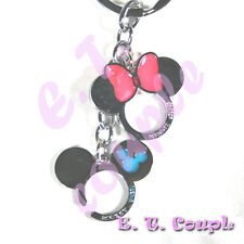 2PC Mickey Minnie adorable Love couple cell phone strap pendant Disney keyring