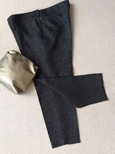 Fabulous BLACK TEXTURED Cropped SMART TROUSERS, Great Plains, 14 NEW
