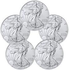 2017 1 Troy oz. American Silver Eagle - Lot of 5 BU Coins SKU44363