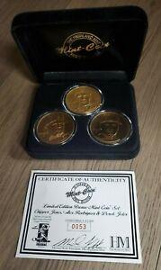 The Highland Mint Sports Collection CHIPPER JONES, ALEX RODRIGUEZ & DEREK JETER