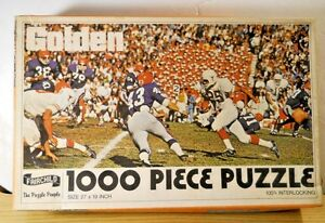 1960's Fairchild #1570 Texas Longhorns Football 1000 Pc Puzzle THE LAST QUARTER
