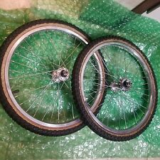 old school bmx gt bmx Robinson rims acs hubs used set fit haro hutch mongoose !!